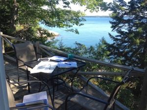 Writing at the Maine coast