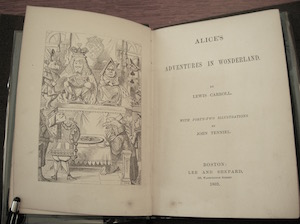 "first American edition of ""Alice"""