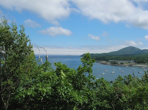 Looking back at Bar Harbor from Bar Island