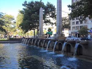 Copley fountain
