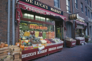 Massachusetts, Boston; Beacon Hill; Deluca's Italian Market On Charles Street