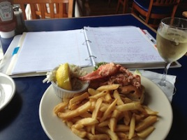 Lobster roll in Boston