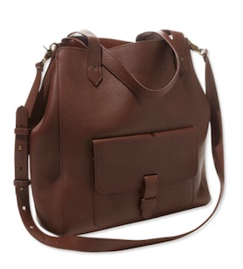 LLBean Double-faced leather tote