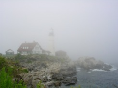 Portland Head in fog