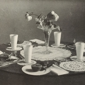 Table setting 1914