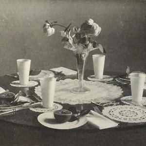 Table setting 1914