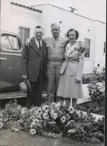 Herb with his parents in California