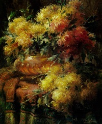 frans-mortelmans-chrysanthemums-in-copper-pot