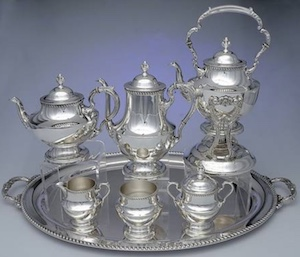 Georgian silver tea set