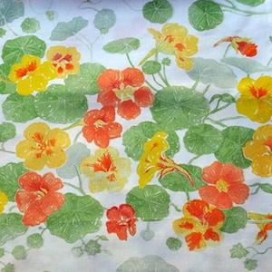 Nasturtium tablecloth