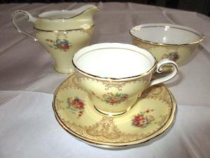 yellow tea service
