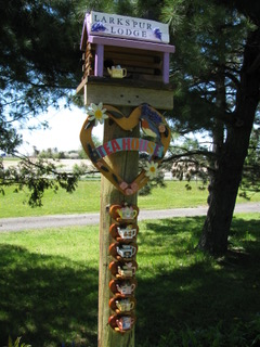 larkspur lodge with pole