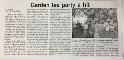 Garden tea party a hit