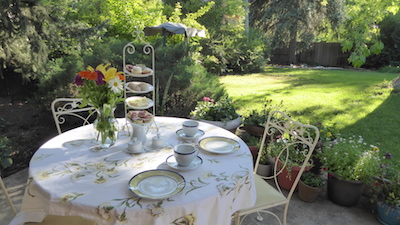 Tea in the garden