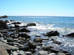 Rocks and sapphire sea