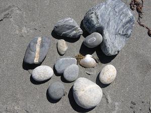 Special beach rocks!