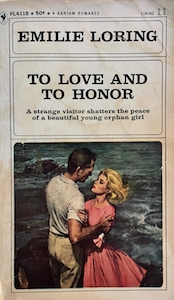 To Love and to Honor paperback