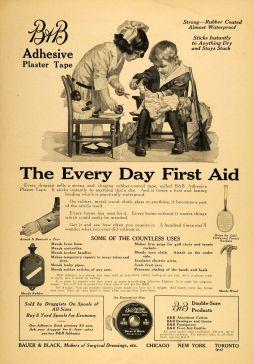 Bauer & Black ad 1918