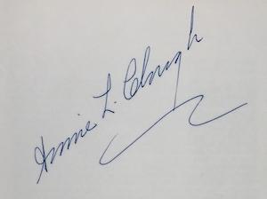 Annie Clough signature