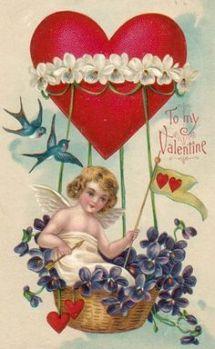 Victorian violets Valentine