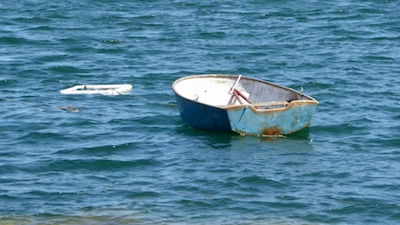 Rowboat in Blue Hill Bay