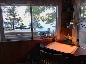 Writing with a view