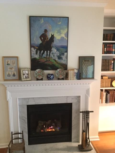 Trail of Conflict and fireplace