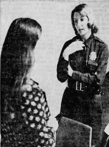 Tina Lewis Rowe, policewoman