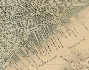 Old Portland map