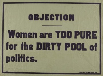 Women's suffrage objection