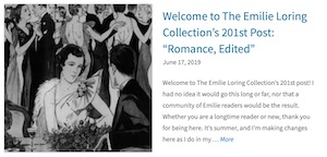 201st post Emilie Loring Collection