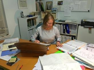 Biographer at work