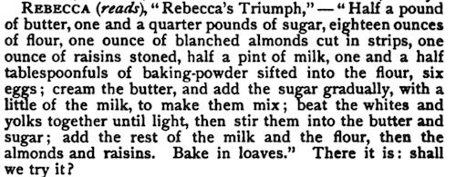 Rebecca's Triumph cake recipe