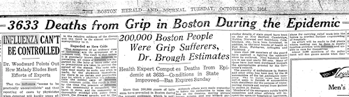 Boston influenza 1918