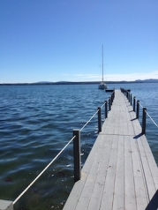 Dock and sailboat