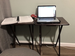makeshift study