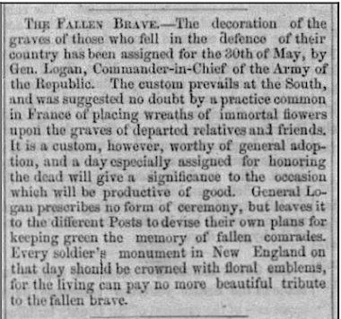 """Decoration Day"" 1868"