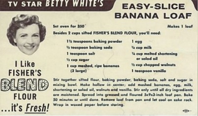 Betty White's banana bread