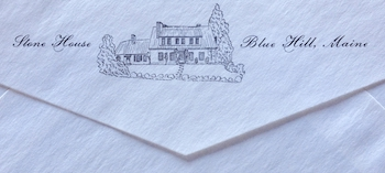 Slaven Stone House stationery