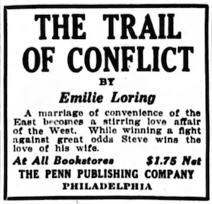 1922 Trail of Conflict ad by Penn